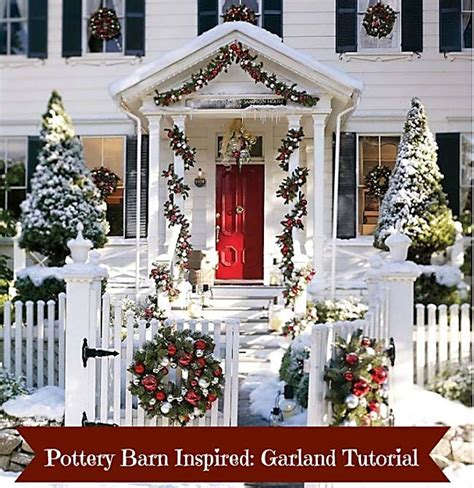 make this pottery barn inspired christmas garland a