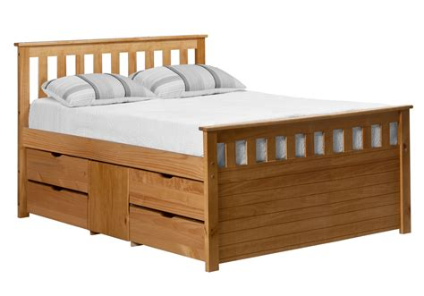 captains storage bed 4ft6 ferrara antique pine 4