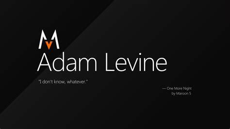 maroon 5 typography adam levine of maroon 5 windows 8 by adrianimpalamata on