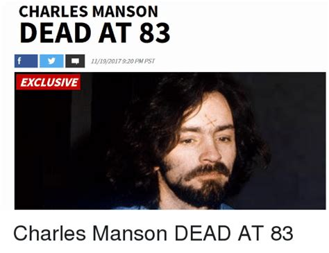 Charles Manson Meme - charles manson dead at 83 11192017920 pm pst exclusive