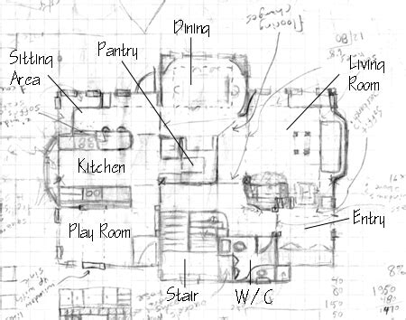 Simple One Floor House Plans by Draw Floor Plans