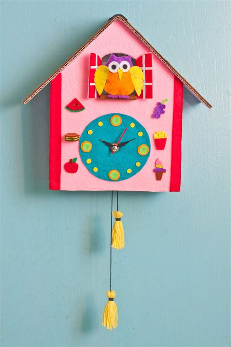 clock craft project diy cuckoo clock craft great parent child activity http