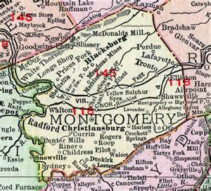 montgomery county virginia map 1911 rand mcnally