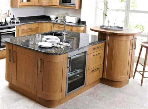 oak kitchen island with breakfast bar home interior