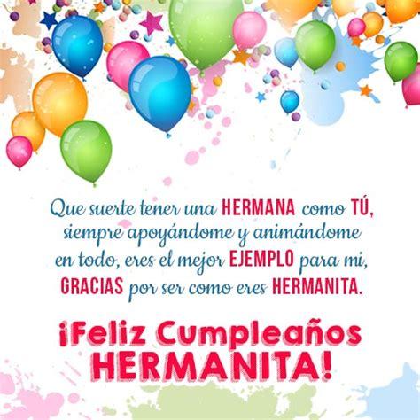 imagenes de feliz cumpleaños hermana hermosa frases para el cumplea 241 os de mi hermana hermanita jpg 500