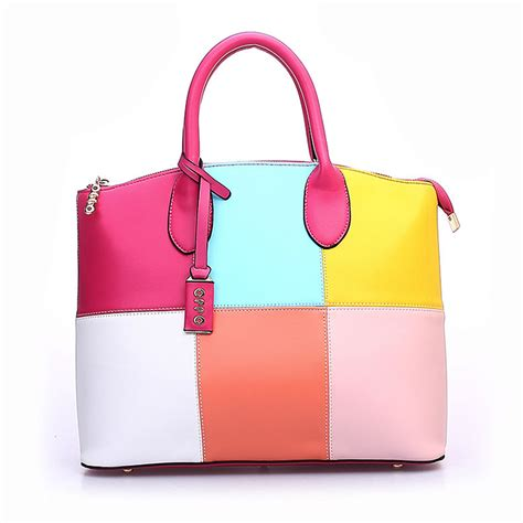colorful handbags cheap large handbags s soft leather tote shoulder