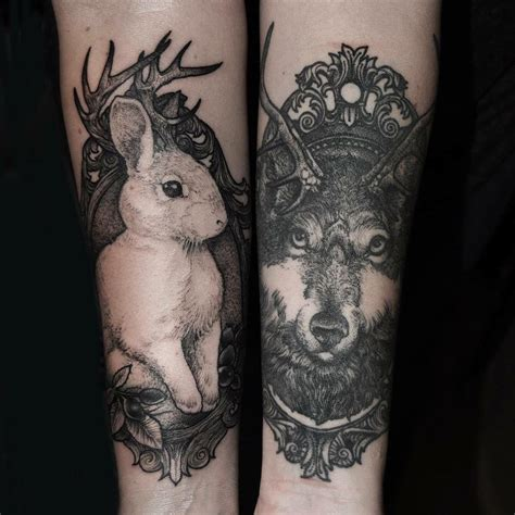 matching wolf tattoos 80 matching ideas for couples together forever
