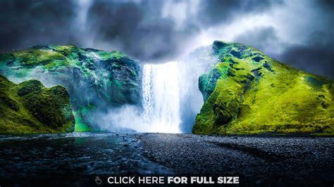 4k wallpaper waterfall dreamy waterfall 4k wallpaper