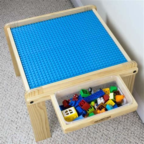 lego activity table with storage creation table with storage lego duplo compatible activity