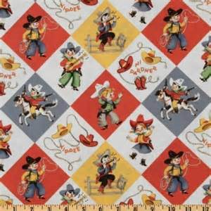 michael miller yippee cowboy retro fabric by michael
