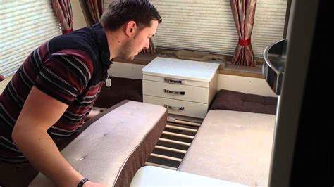 how to make up a bed how to make up the front double bed in a caravan youtube