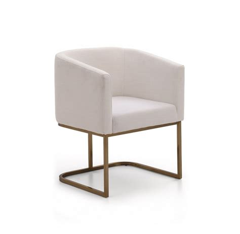 white fabric dining room chairs modrest yukon modern white fabric and antique brass dining
