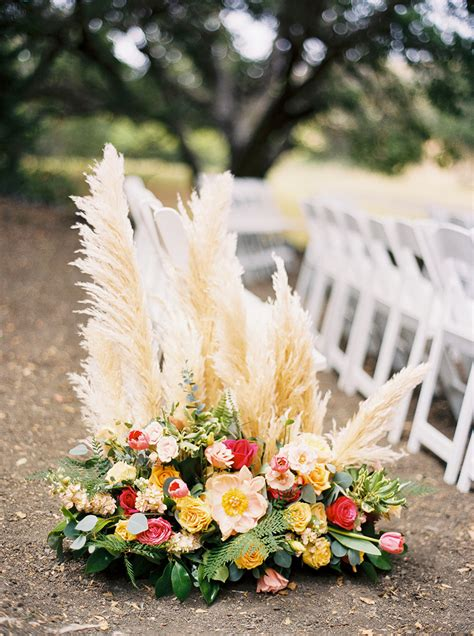 wedding aisle on grass trending 20 coolest ideas to feature pas grass in your