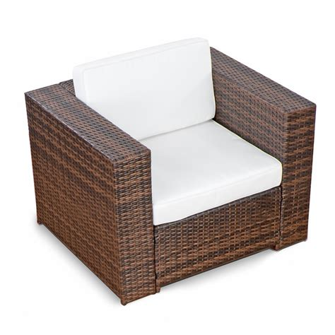 Sessel Lounge by 3tlg 1er Lounge Sessel Polyrattan Gartenm 246 Bel Braun