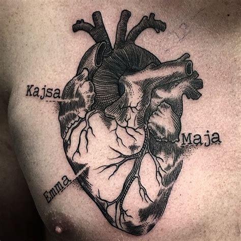 tattooed heart tattoo parlour 38 anatomical heart tattoos amazing tattoo ideas