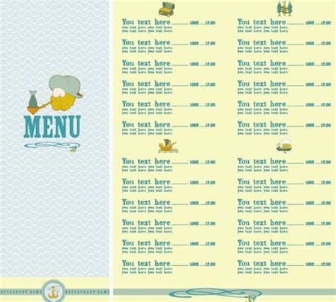 design elements list restaurant menu list design elements free vector in