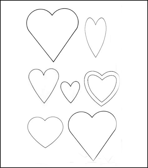 heart template printable heart templates free premium