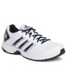 sports shoes offer offer on adidas blue and white running sports shoes price