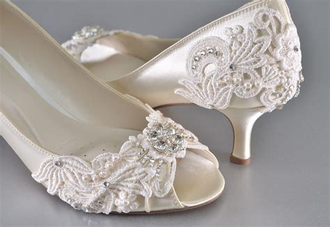 Wedding Heels For by S Low Heel Wedding Shoes S Vintage