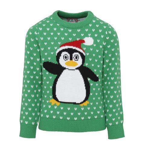 penguin christmas jumper cs kids