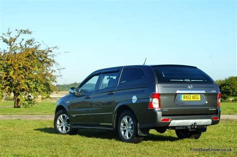 ssangyong korando sports ssangyong korando sports 2012 rear front seat driver