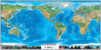 world physical wall map americas centered by compart maps