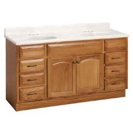 Lowes Oak Vanity Shop Project Source 60 Quot Oak Elegance Bath Vanity At Lowes