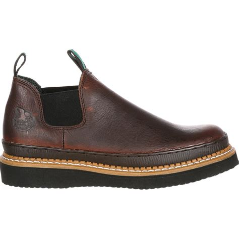 romeo shoes s slip on brown leather romeo work shoe