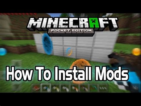 mods in minecraft install 0 9 2 how to install mods in minecraft pe pocket