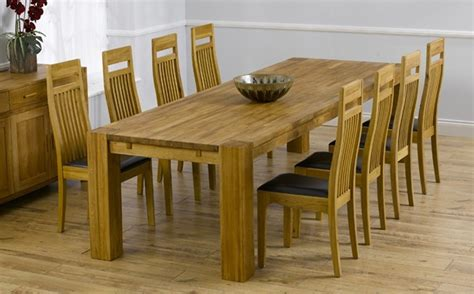 Large Dining Room Tables Seats 10 by Oak Dining Table Sets Great Furniture Trading Company