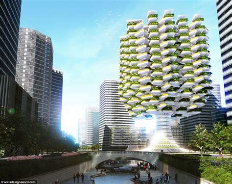 incredible design  skyfarm filled  green space