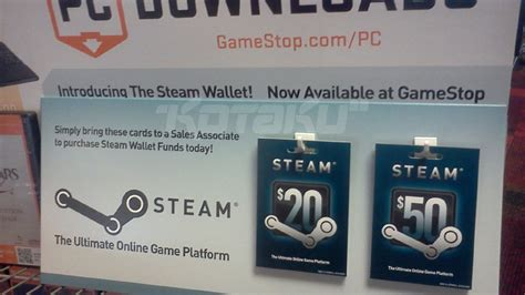 Steam Gift Card Gamestop - sure looks like steam wallet cards are coming to gamestop this week update