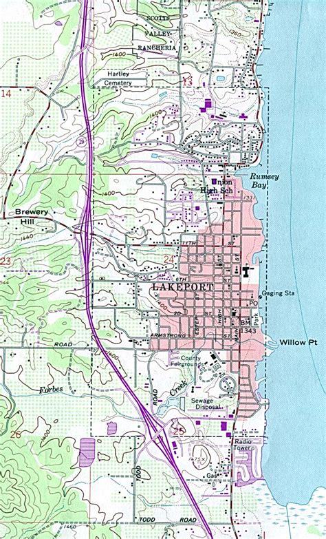 lake county california map transportation in lake county california