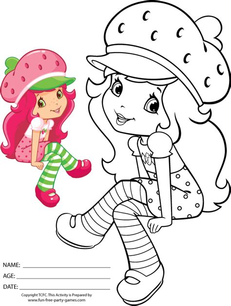 strawberry shortcake coloring pages games free coloring pages of orange blossom flower