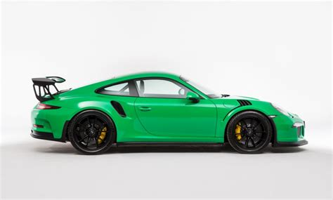 green porsche rs green porsche 991 gt3 rs spotted for sale