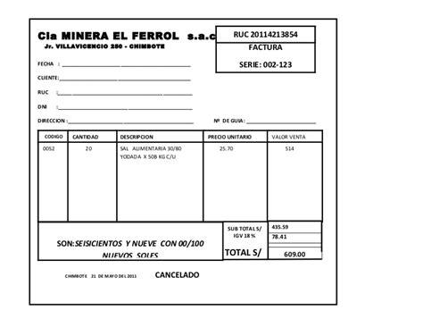 modelo de factura comercial modelo de factura factura comercial formato 8ws templates