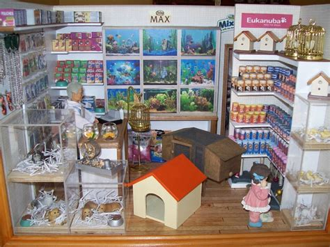 doll house pets quot pet shop quot collectible roombox this roombox has a special
