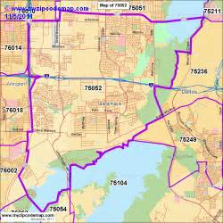 zip code map of 75052 demographic profile residential