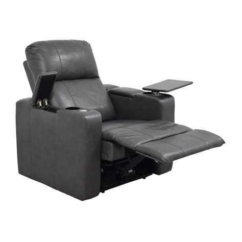 Recliner With Usb Port by 90 Grey Leather Recliner With Storage And Usb Port