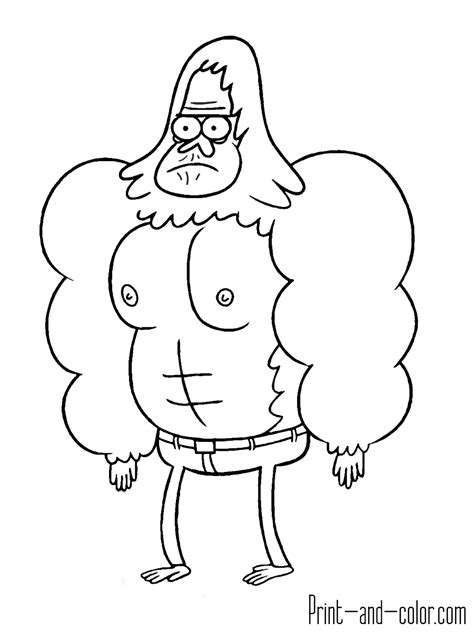 printable coloring pages regular show regular show coloring pages print and color com