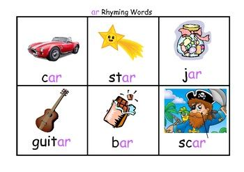 rhyming word flash cards with matching board set b by