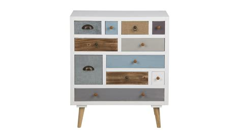 kommode highboard wei 223 mit 11 schubk 228 sten bunt - Kommode Highboard Weiss