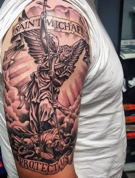 saint michael tattoo designs 75 st michael designs for archangel and prince