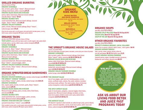 A Healthier Menu by Menus 187 Healthy Restaurant And Vegetarian Food Charleston Sc