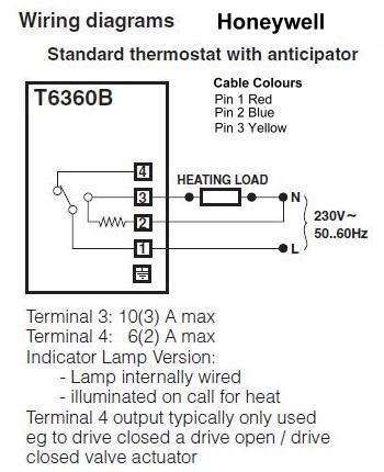 honeywell t6360 room thermostat wiring diagram 46 wiring