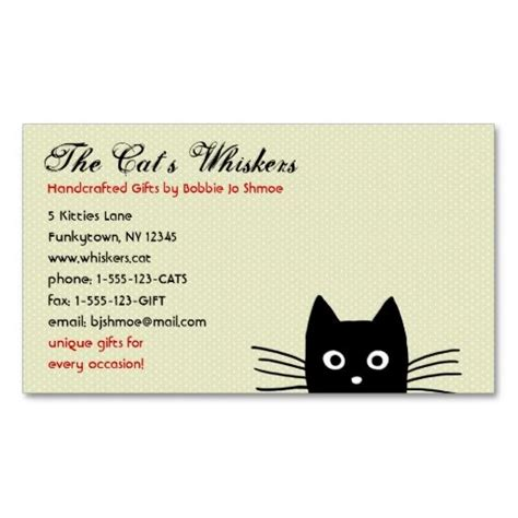 Funky Business Card Templates by Funky Black Cat Customizable Business Card Templates