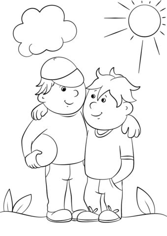Coloring Pages Friends - Ala Model Kini