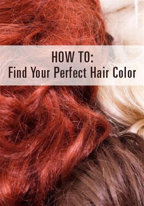 Find Your Natural Hair Color | how to find your perfect hair color