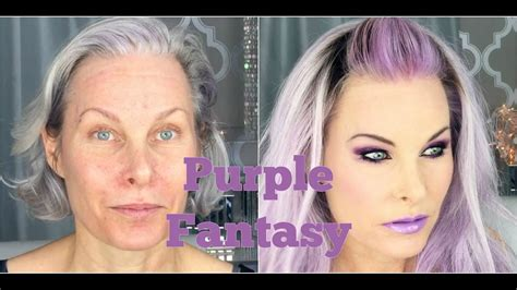 purple hair middle age women fantasy purple makeup and hair on a mature face youtube