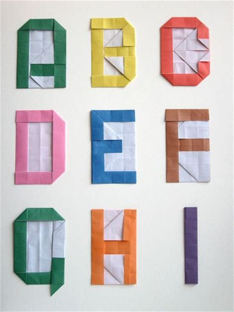 Origami Alphabet - diy alphabet with origami origami for